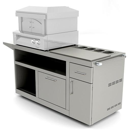 Alfresco 30 Inch Freestanding Deluxe Pizza Oven Prep Cart - AXE-PZA-PPC