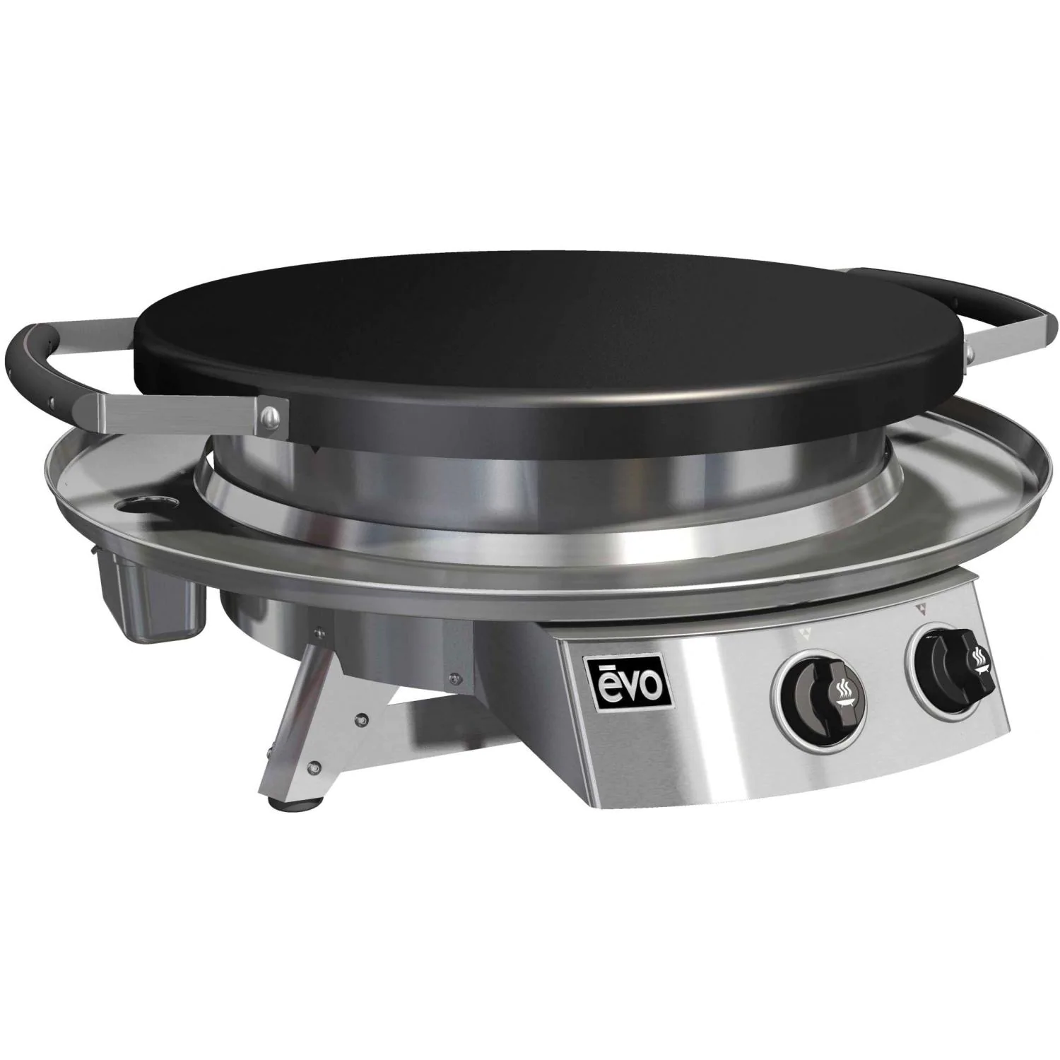 Evo Professional Classic Tabletop Flattop Natural Gas Grill - 10-0021-NG