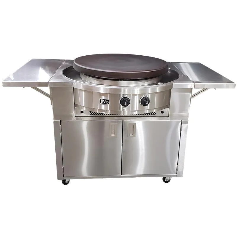 Evo Affinity 30G Flattop Natural Gas Grill On Stainless Steel Cart - 10-0055-NG + 10-0053-30