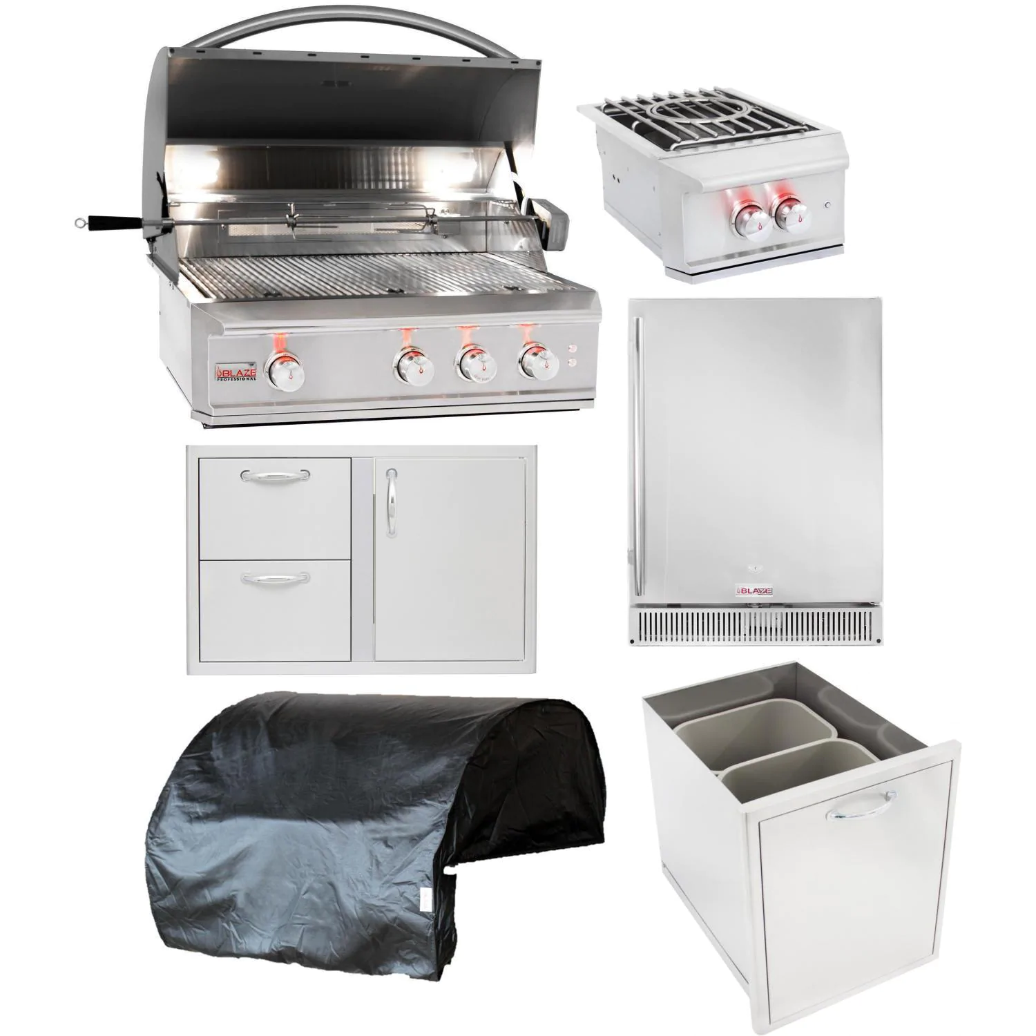 Blaze Professional LUX 6-Piece 34-Inch Natural Gas Outdoor Kitchen Package