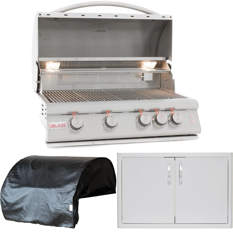 """Blaze Premium LTE 3-Piece 32"""" Propane Gas Outdoor Kitchen Package"""