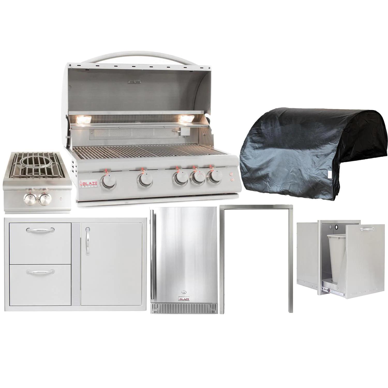 Blaze Premium LTE 7-Piece 32-Inch Propane Gas Outdoor Kitchen Package