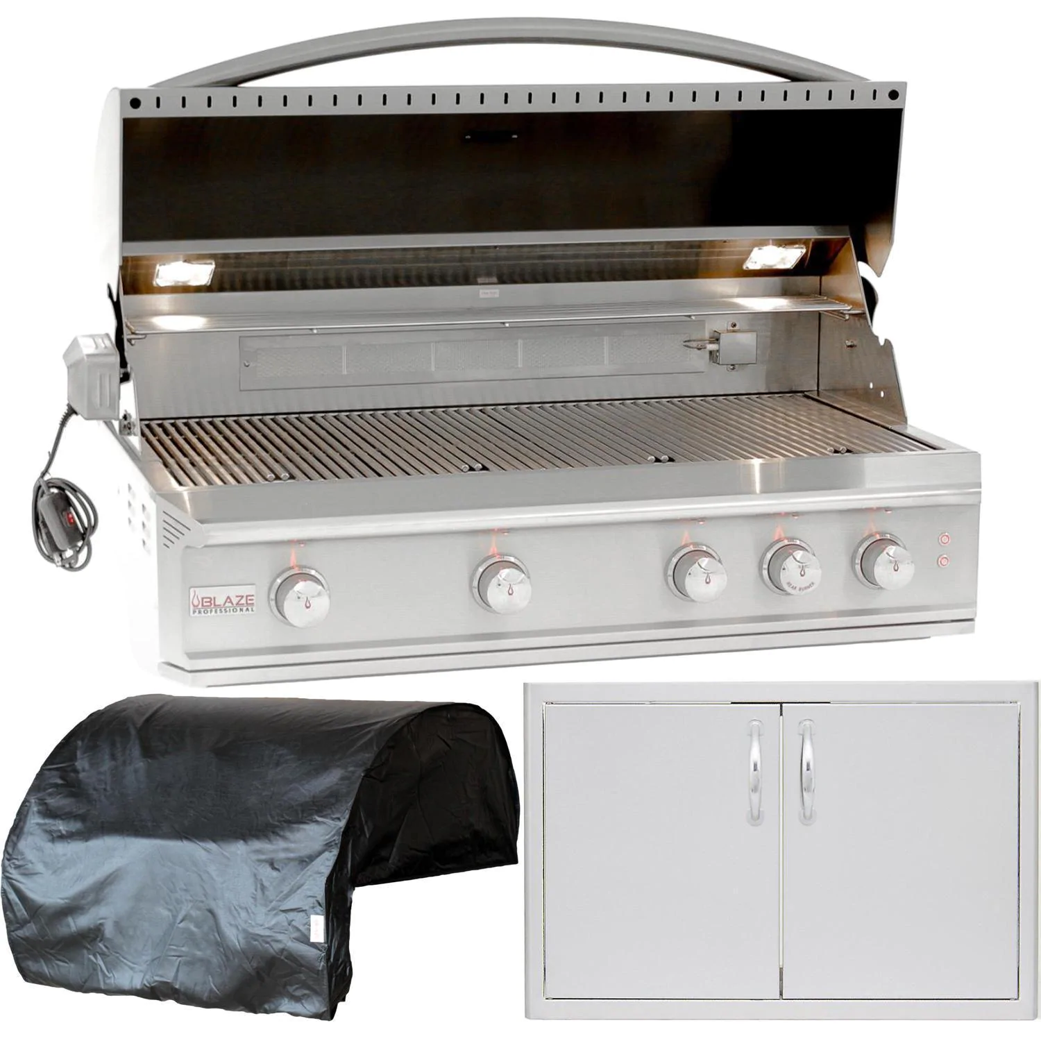 """Blaze Professional LUX 3-Piece 44"""" Natural Gas Outdoor Kitchen Package"""