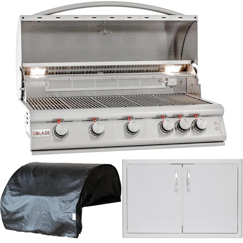 """Blaze Premium LTE 3-Piece 40"""" Natural Gas Outdoor Kitchen Package"""