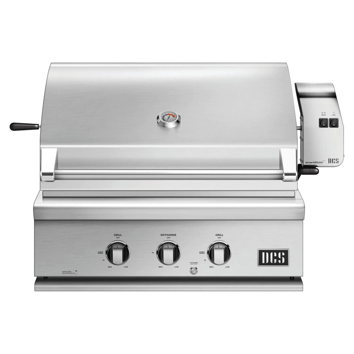 """DCS Series 7 Traditional 30"""" Built-In Natural Gas Grill With Rotisserie - bh1-30r-n"""