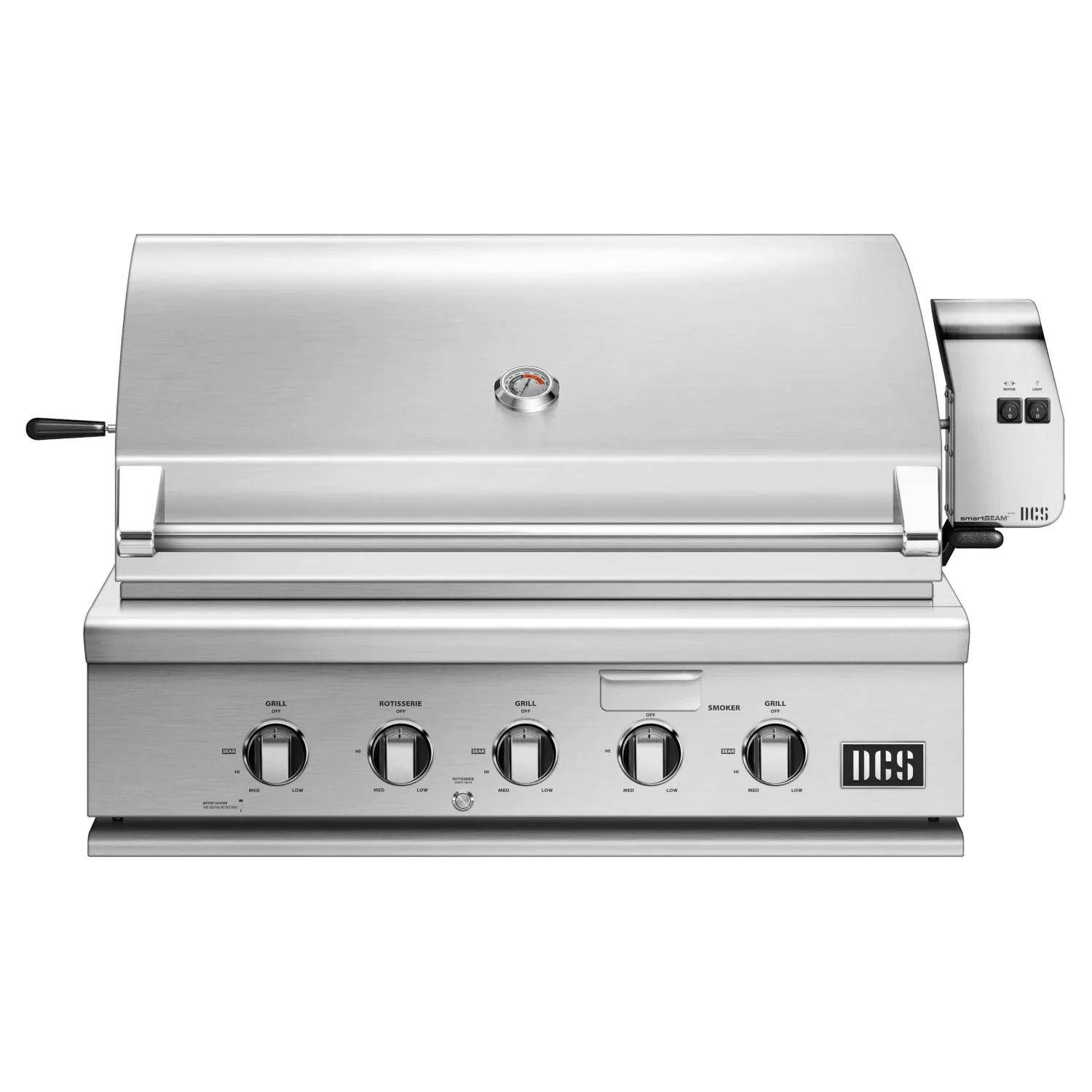 """DCS Series 7 Traditional 36"""" Built-In Natural Gas Grill With Rotisserie - bh1-36r-n"""
