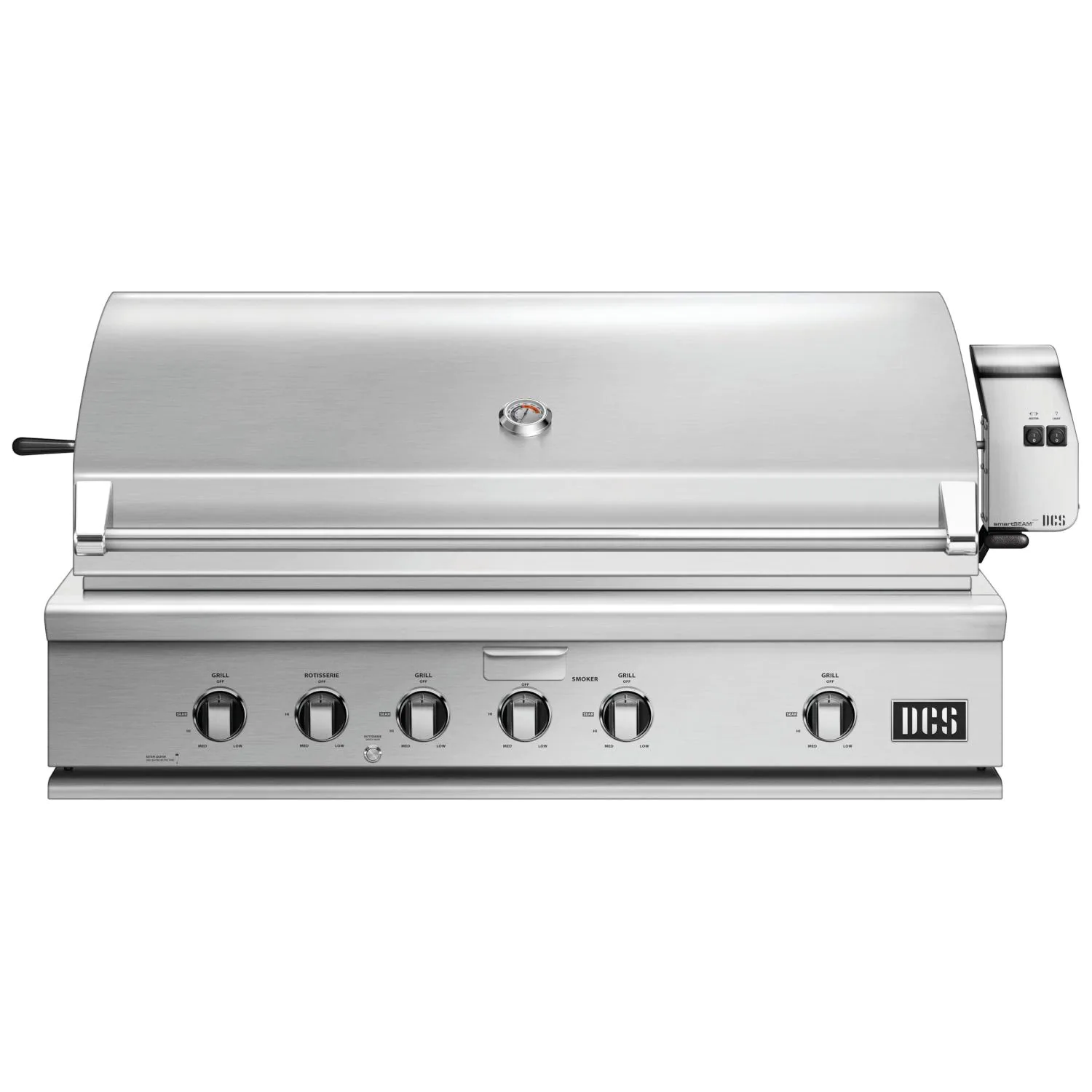 """DCS Series 7 Traditional 48"""" Built-In Natural Gas Grill With Rotisserie - bh1-48r-n"""