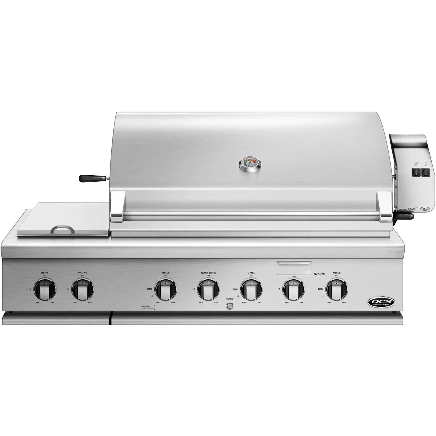 """DCS Series 7 Traditional 48"""" Built-In Natural Gas Grill With Double Side Burner & Rotisserie - bh1-48rs-n"""