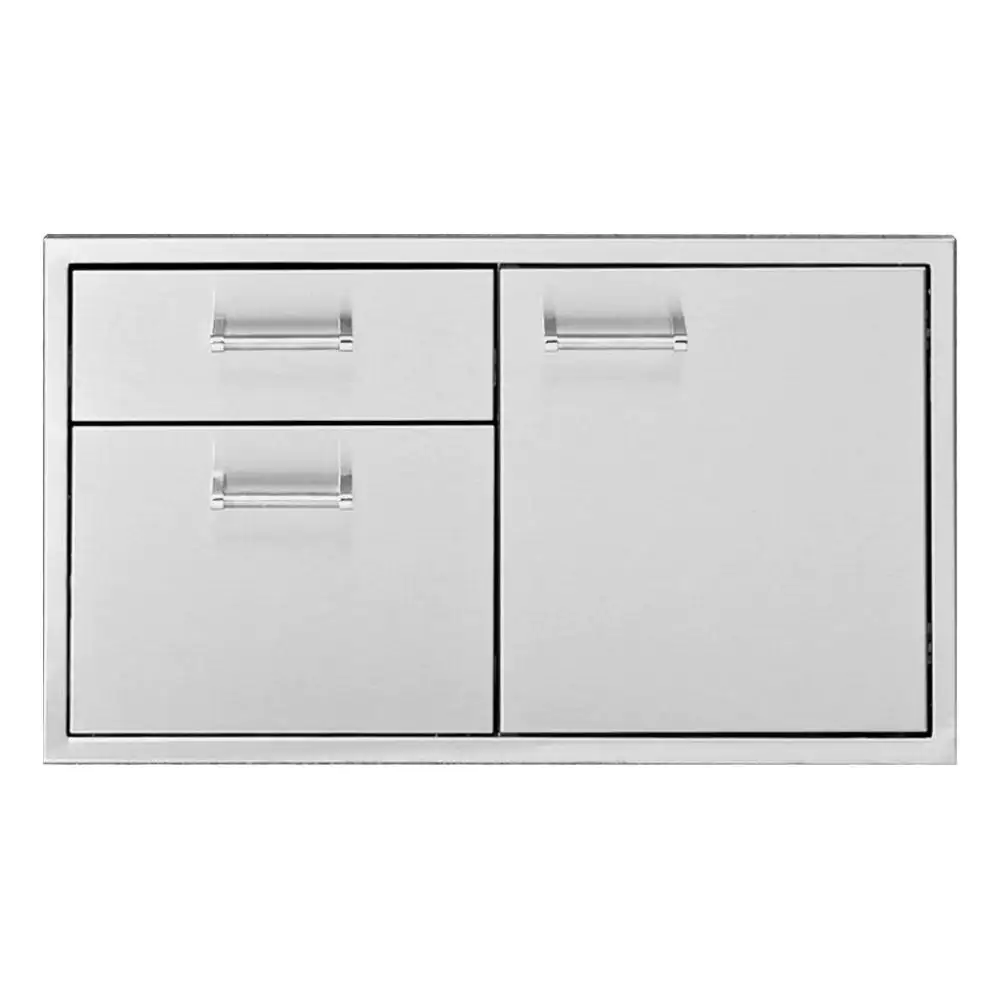Delta Heat 30-Inch Stainless Steel Access Door & Double Drawer Combo - DHSD133-B