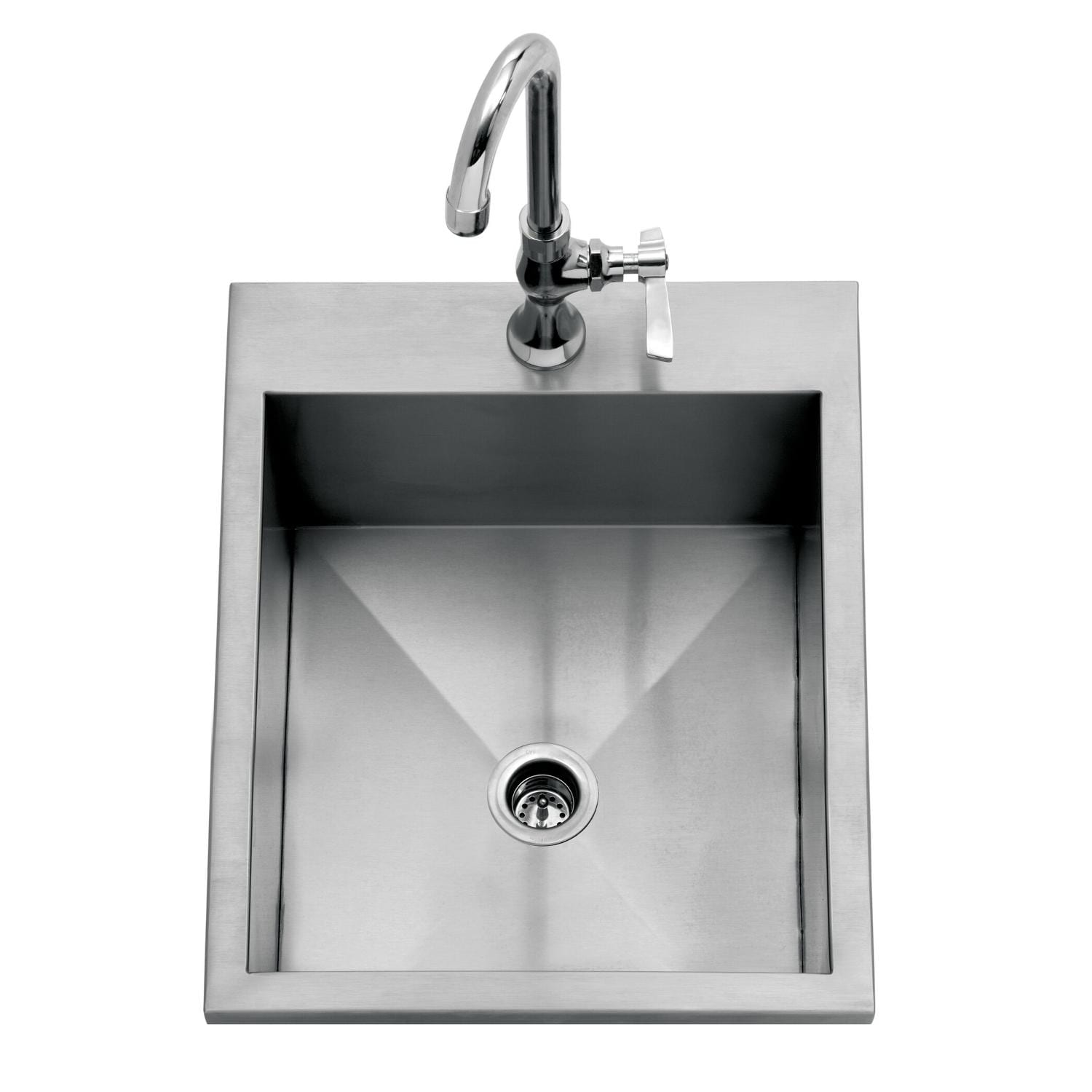 Delta Heat 15-Inch Drop-In Outdoor Rated Bar Sink With Cold Water Faucet - DHOS15