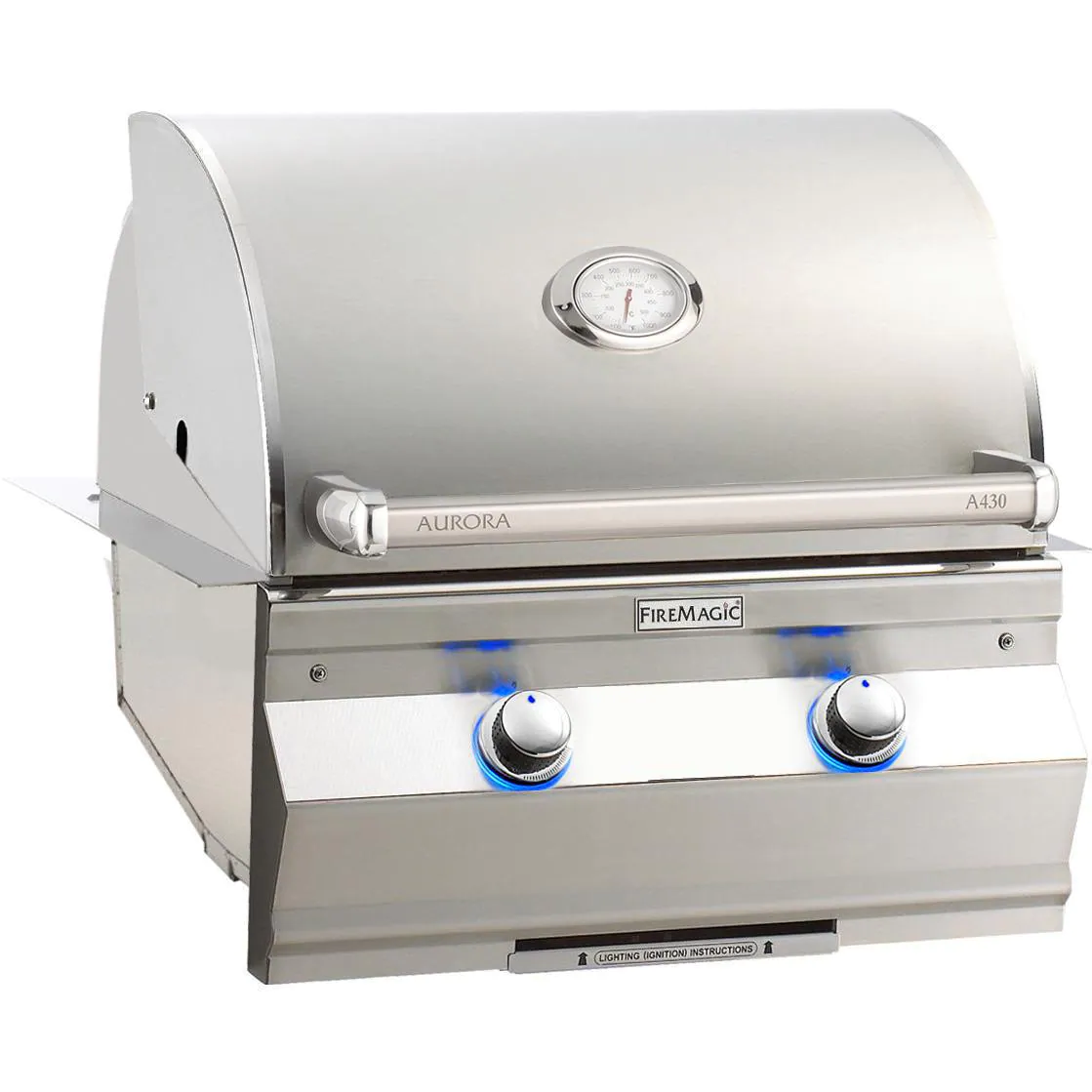 """Fire Magic A430I-7EAN, Aurora 24"""" Built-In Natural Gas Grill With Analog Thermometer"""