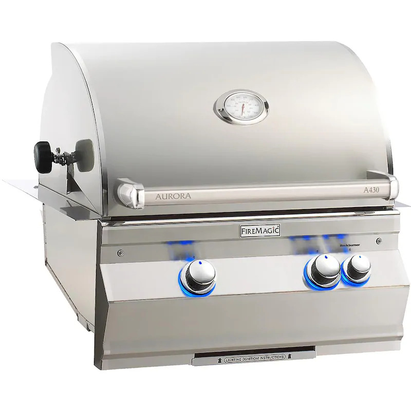 """Fire Magic A430I-8EAN Aurora A430I 24"""" Built In Natural Gas Grill With Analog Thermometer"""
