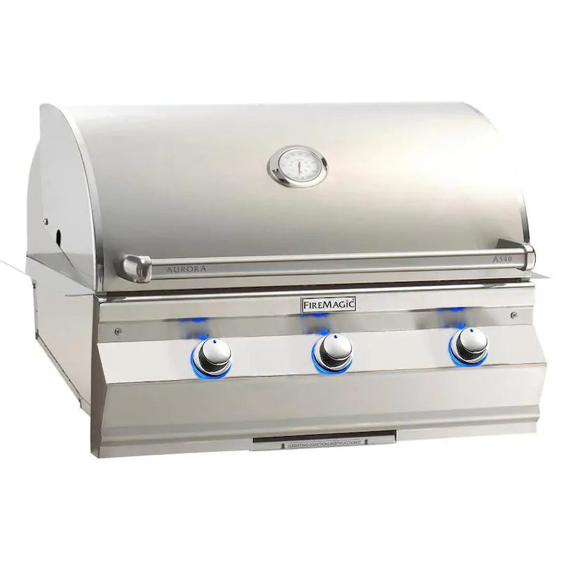 """Fire Magic A540I-7EAN Aurora A540I 30"""" Built In Natural Gas Grill With Analog Thermometer"""