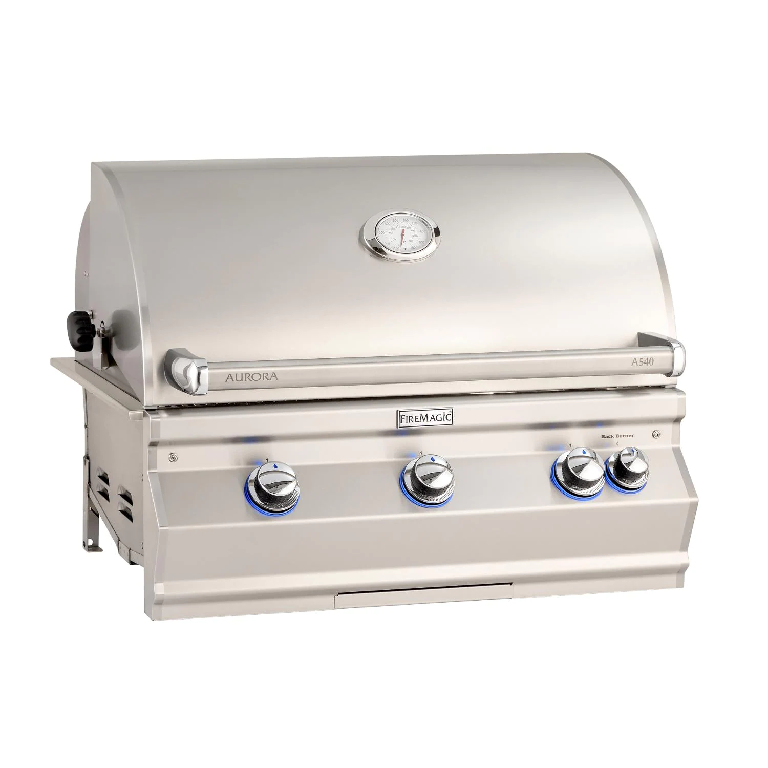 """Fire Magic A540I-8EAN Aurora A540I 30"""" Built In Natural Gas Grill With Analog Thermometer"""