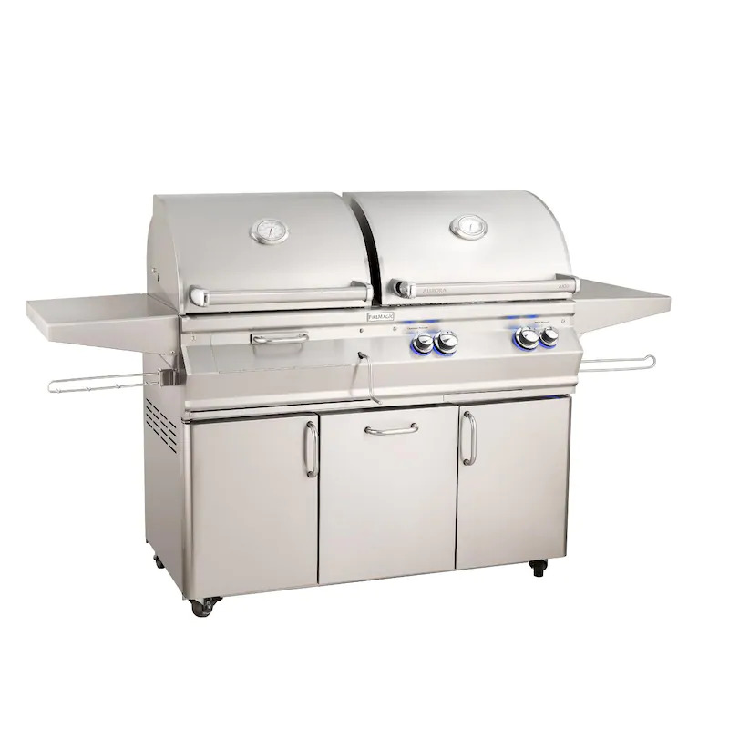 """Fire Magic A830S-7EAP-61-CB Aurora A830S 24"""" Built In Propane Gas & Charcoal Combo Grill With Analog Thermometer"""