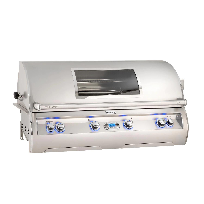 """Fire Magic E1060I-8E1P-W Echelon Diamond E1060I 48"""" Built In Propane Gas Grill  With Rotisserie And Digital Thermometer"""