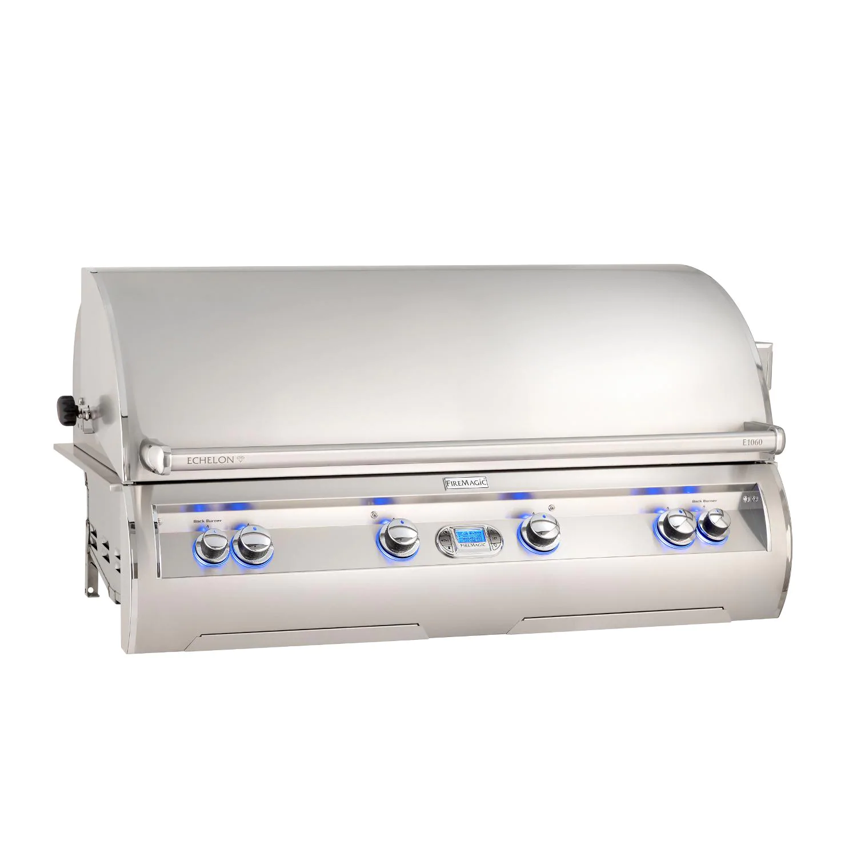 "Fire Magic E1060I-8L1P Echelon Diamond E1060I 48"" Built In Propane Gas Grill  With Rotisserie, One Infrared And Digital Thermometer"