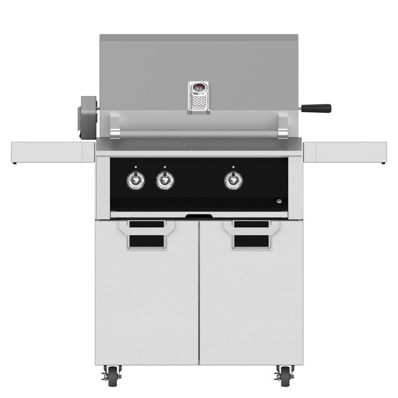 Aspire by Hestan EABR30-LP-BK + ECD30-BK 30 Inches Freestanding Conventional Burner Propane Gas Grill w/Rotisserie - Stealth