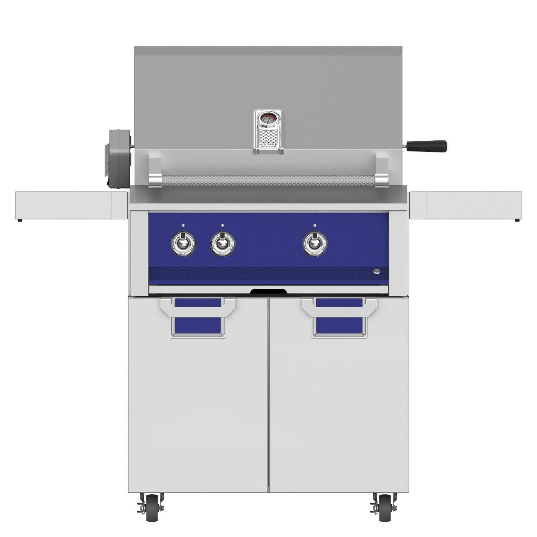 Aspire by Hestan EABR30-LP-BU + ECD30-BU 30 Inches Freestanding Conventional Burner Propane Gas Grill w/Rotisserie - Prince