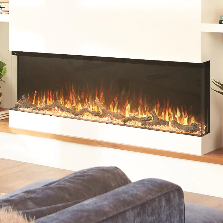 """Napoleon Trivista 60"""" 3-Sided Built-In Electric Fireplace - NEFB60H-3SV"""