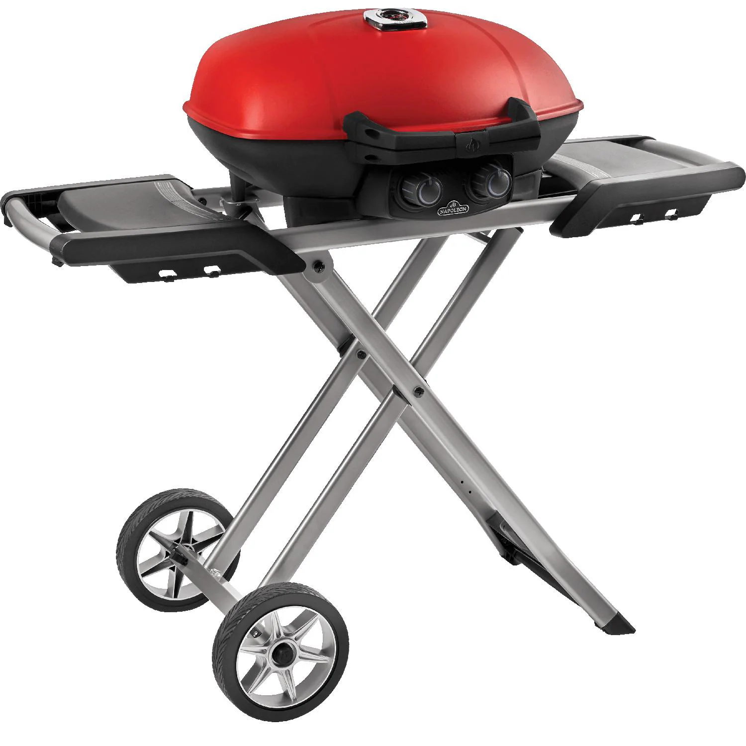 Napoleon TravelQ 285 Portable Propane Gas Grill with Griddle - Red - TQ285-RD-1-A