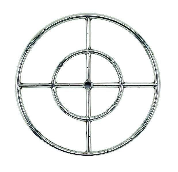 American Fireglass Round Stainless Steel Fire Pit Burner