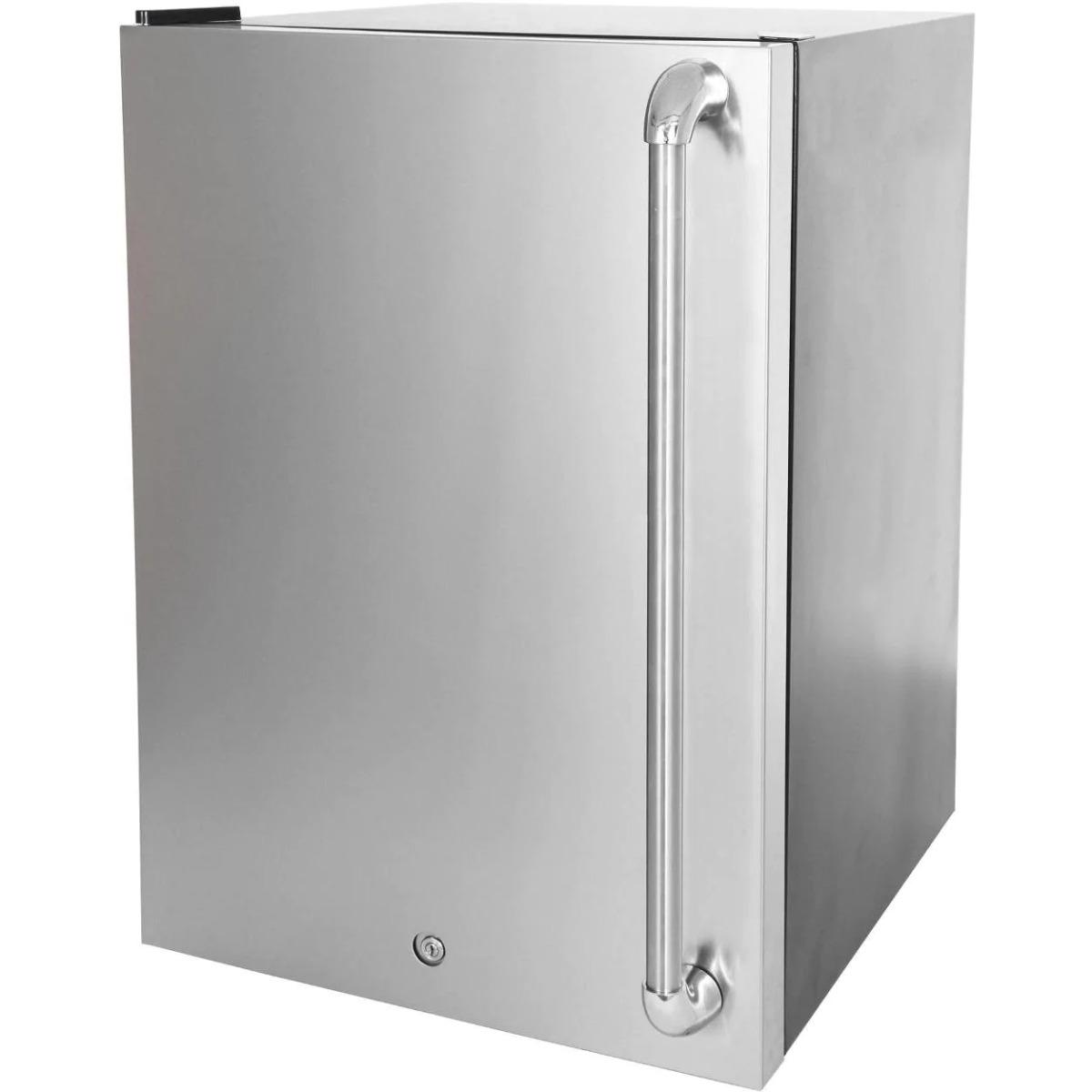 Blaze 20-Inch 4.5 Cu. Ft. Right Hinge Compact Refrigerator With Stainless Steel Door & Towel Bar Handle - BLZ-SSRF130+ BLZ-SSFP-4.5
