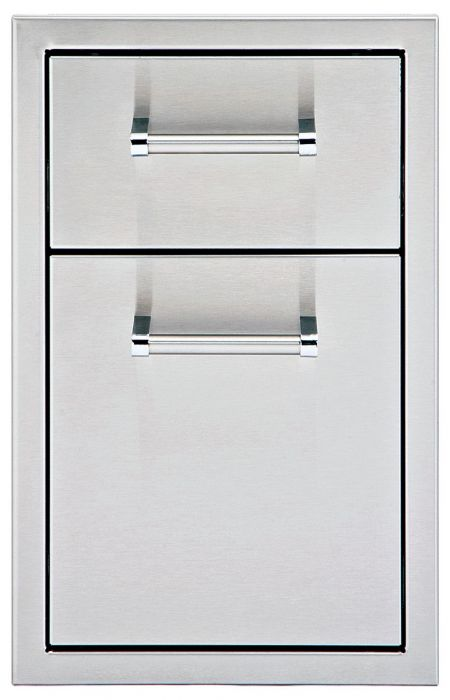 Delta Heat 13-Inch Stainless Steel Double Access Drawer - DHSD132-B