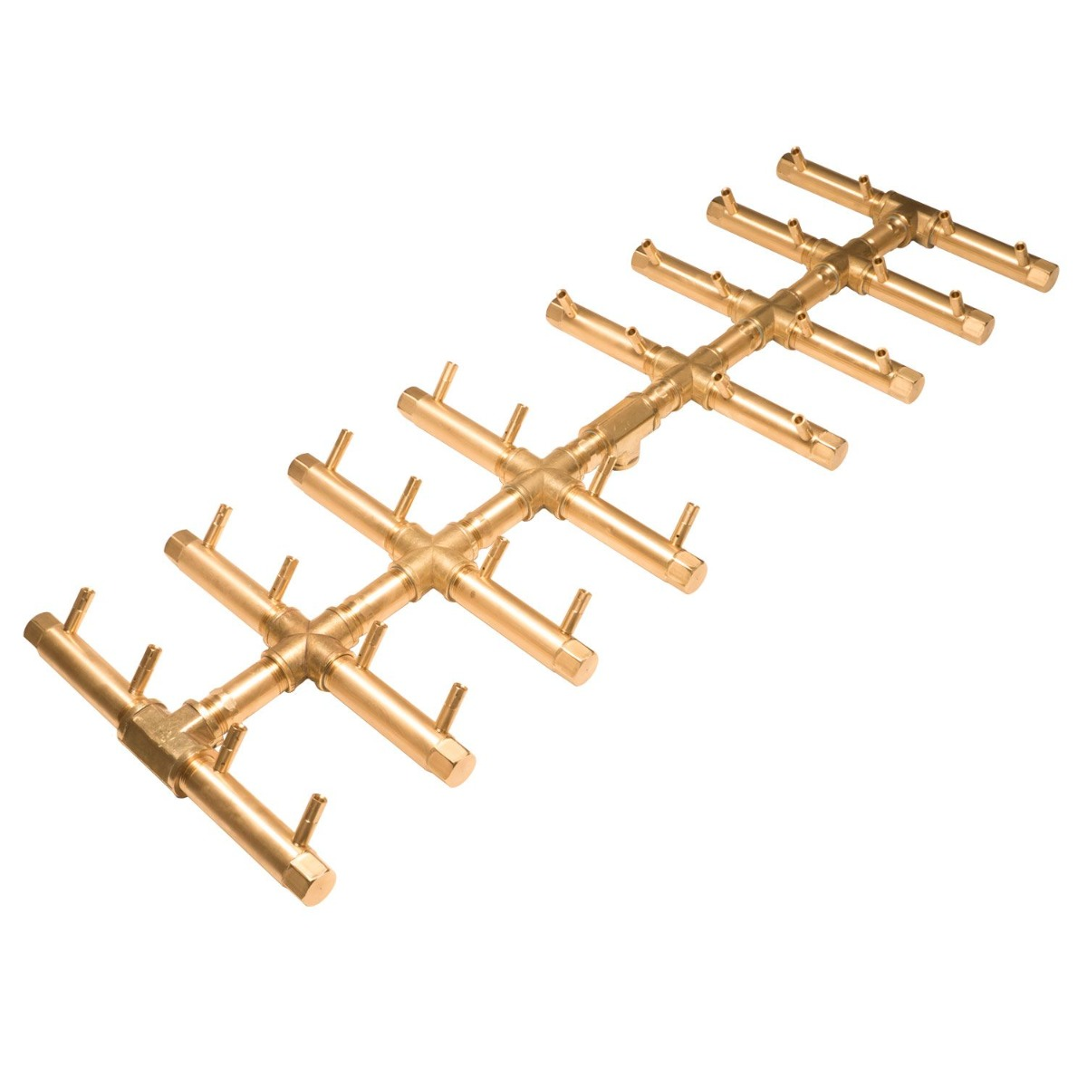 Crossfire by Warming Trends CFBDT Match Light Double Tree-Style Brass Gas Fire Pit Burner