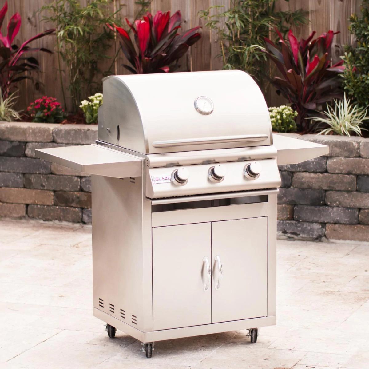 """3 Burner LBM Freestanding Natural Gas Blaze Grill (25"""")"""