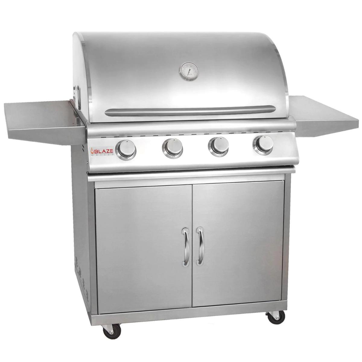 4 Burner LBM Freestanding Natural Gas Blaze Grill (32 Inches) blz-4-lbm-ng-rt+blz-4-cart