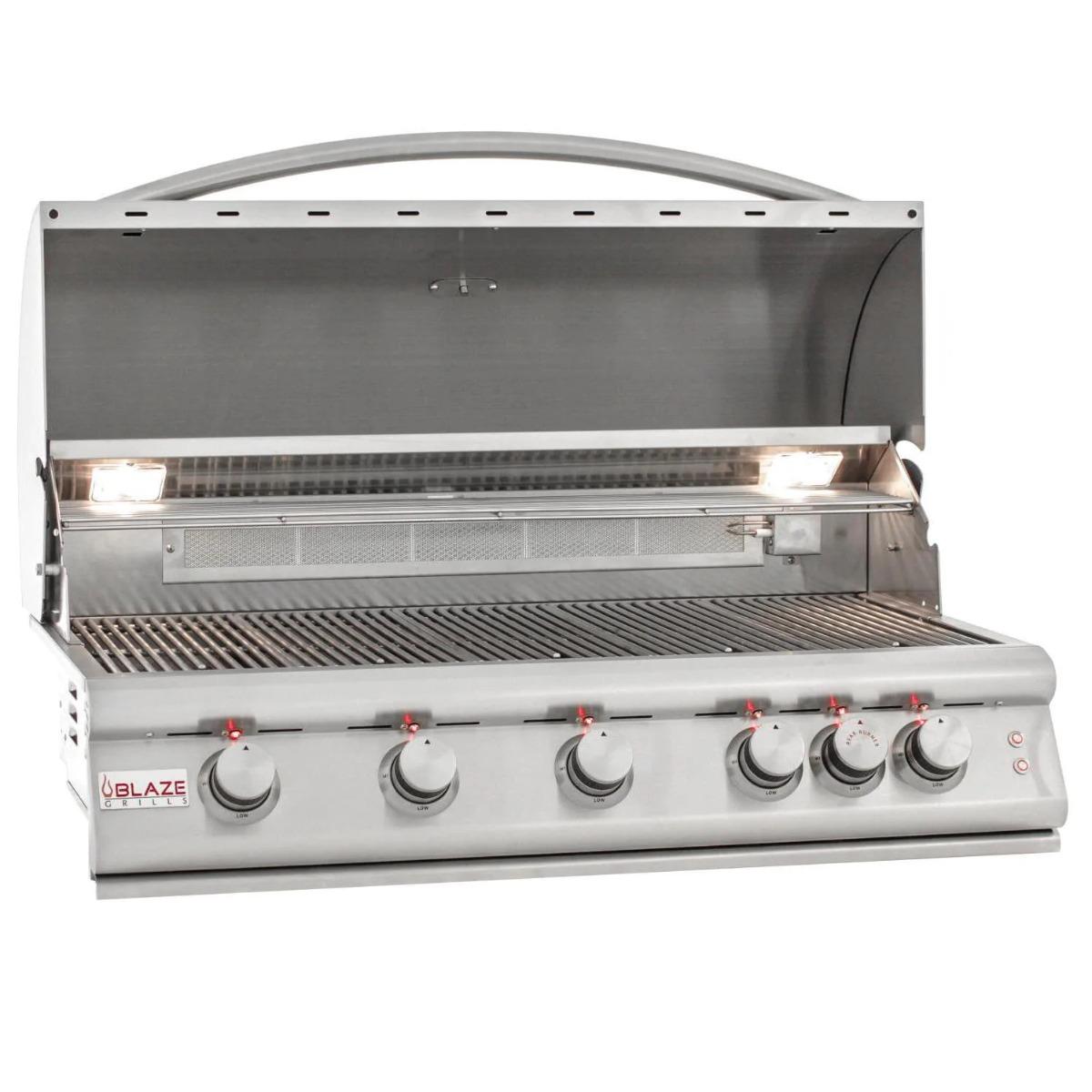 Blaze Premium LTE 40-Inch 5-Burner Built-In Propane Grill With Rear Infrared Burner & Grill Lights - blz-5lte2-lp