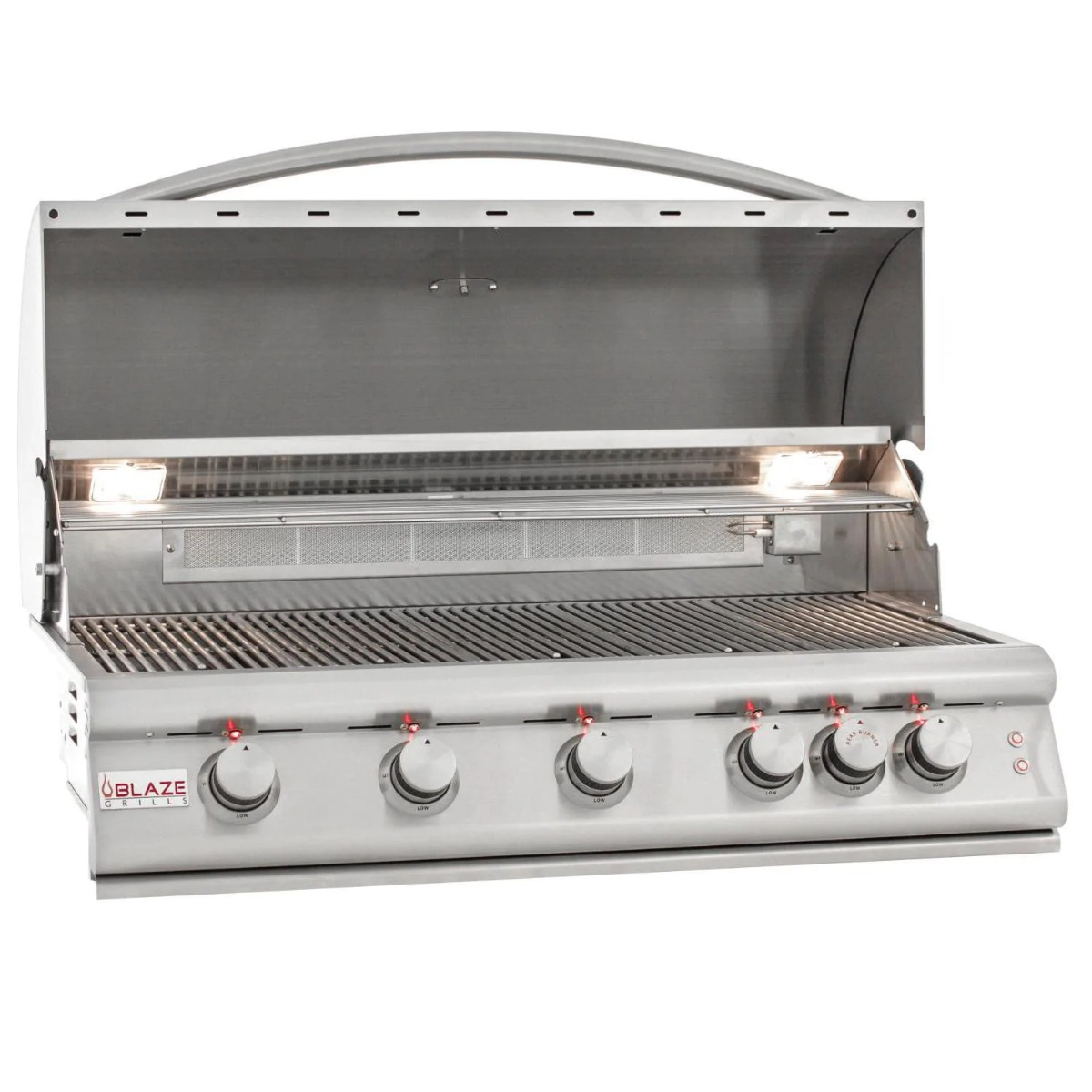 Blaze Premium LTE 40-Inch 5-Burner Built-In Propane Grill with Rotisserie, Rear Infrared Burner & Grill Lights - blz-5lte2-lp-rt