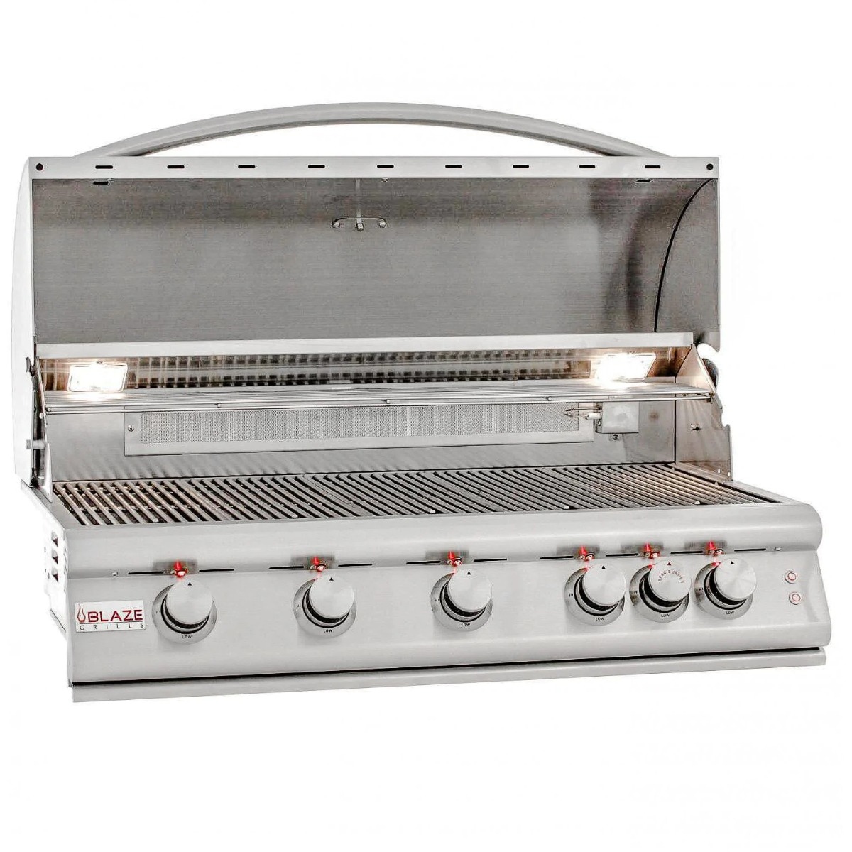 Blaze Premium LTE 40-Inch 5-Burner Built-In Natural Gas Grill with Rotisserie, Rear Infrared Burner & Grill Lights - blz-5lte2-ng-rt