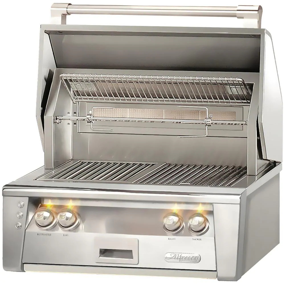 """Alfresco ALXE 30"""" Built-In Natural Gas Grill With Rotisserie - ALXE-30-NG"""
