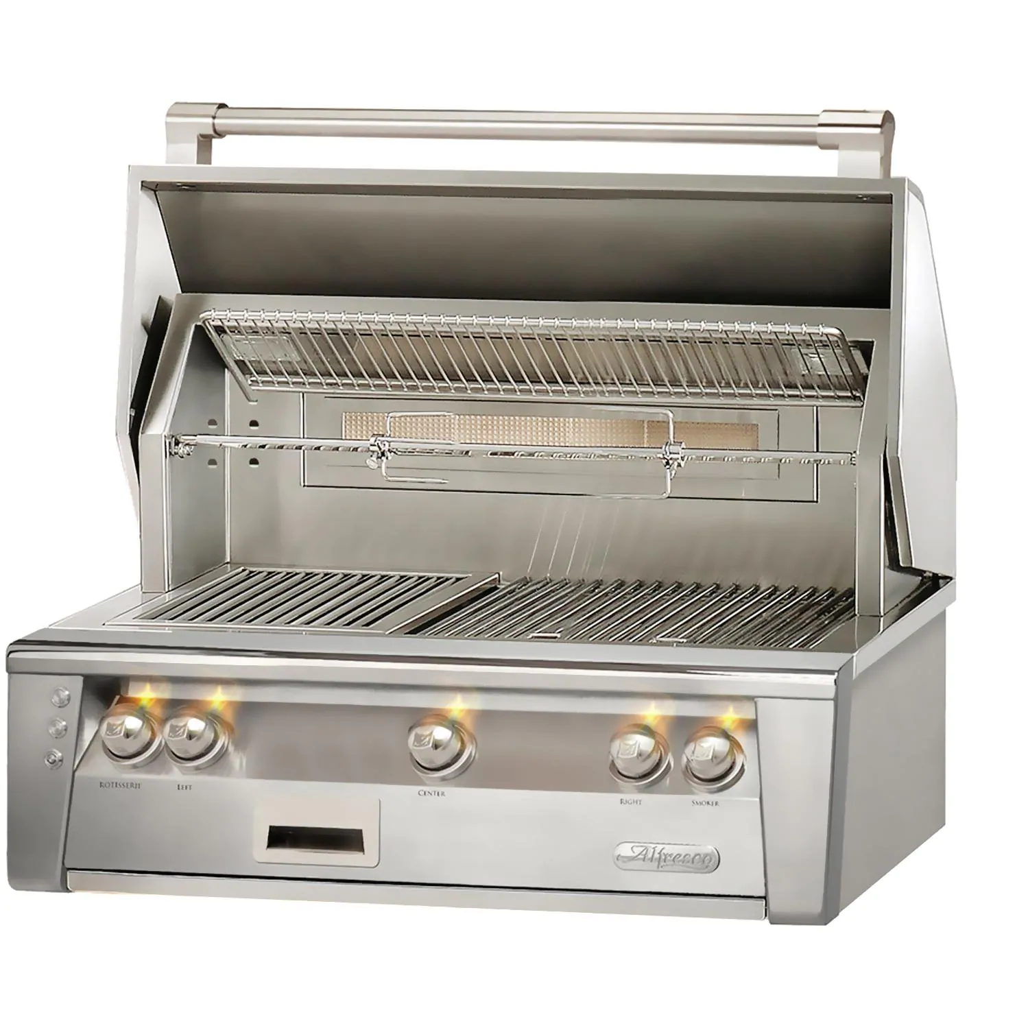 """Alfresco ALXE 36"""" Built-In Natural Gas Grill With Rotisserie - ALXE-36-NG"""