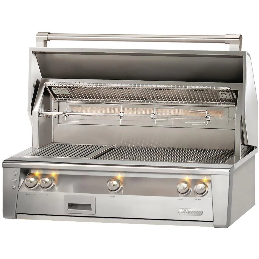 """Alfresco ALXE 42"""" Built-In Natural Gas Grill With Rotisserie - ALXE-42-NG"""