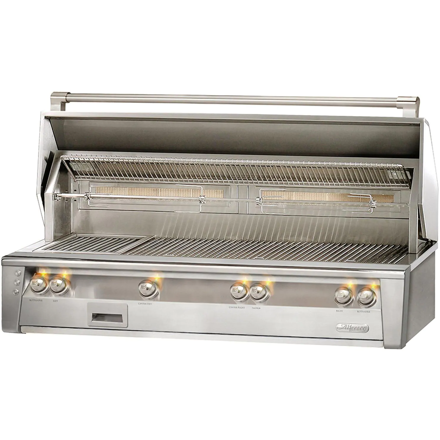 """Alfresco ALXE 56"""" Built-In Natural Gas All Grill With Sear Zone And Rotisserie - ALXE-56BFG-NG"""