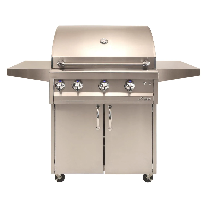 "Artisan Professional 32"" 3-Burner Freestanding Propane Gas Grill With Rotisserie - ARTP-32C-LP"