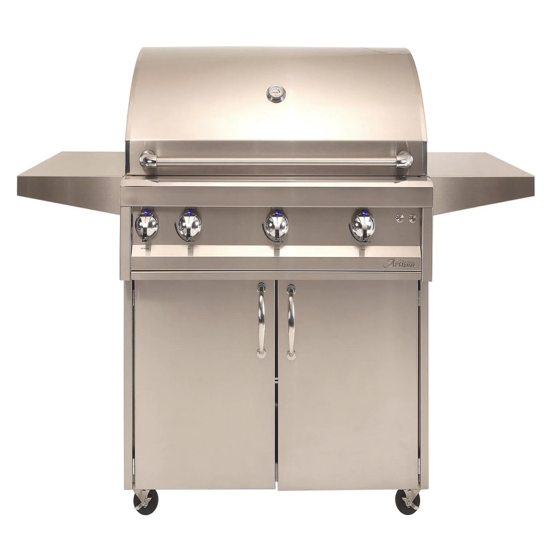"Artisan Professional 36"" 3-Burner Freestanding Propane Gas Grill With Rotisserie - ARTP-36C-LP"