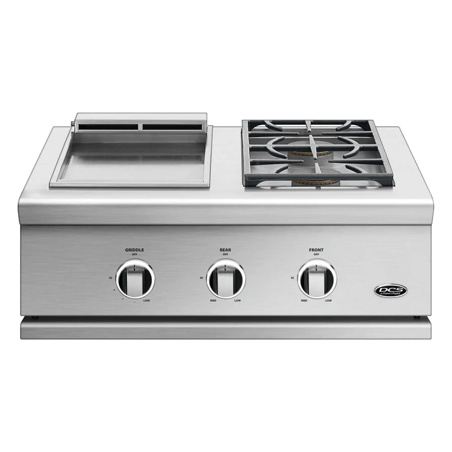 """DCS Series 9 30"""" Natural Gas Double Side Burner with Griddle - GDSBE1-302-N"""