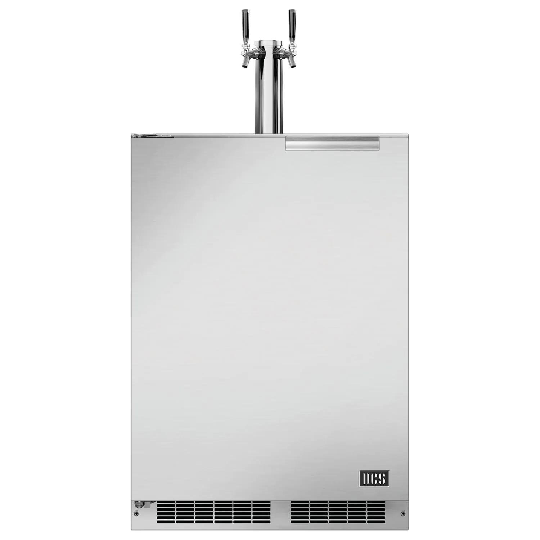 "DCS 24"" 5.7 Cu. Ft. Right Hinge Outdoor Rated Single Tap Beer Dispenser / Kegerator - RF24TR1"