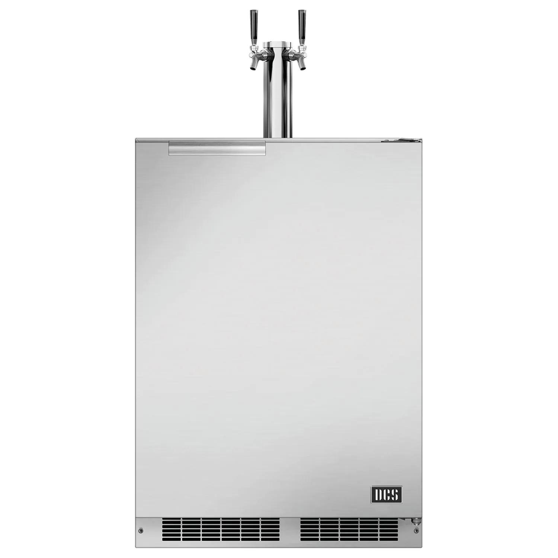 "DCS 24"" 5.7 Cu. Ft. Right Hinge Outdoor Rated Dual Tap Beer Dispenser / Kegerator - RF24BTR1"