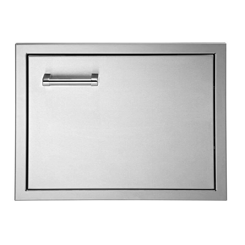 Delta Heat 16-Inch Left Hinged Stainless Steel Single Access Door - Vertical - DHAD16L-C