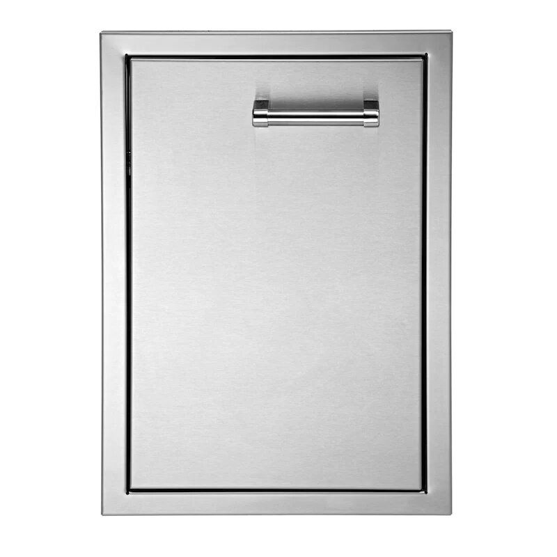 Delta Heat 22-Inch Left Hinged Stainless Steel Single Access Door - Horizontal - DHAD22L-C