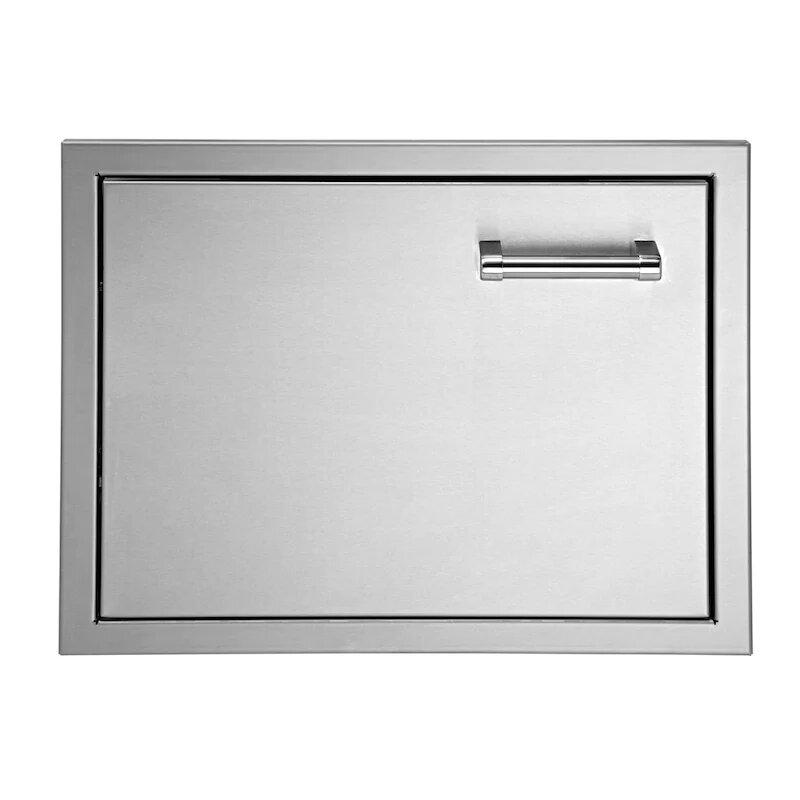 Delta Heat 18-Inch Left Hinged Stainless Steel Single Access Door - Vertical - DHAD18L-C
